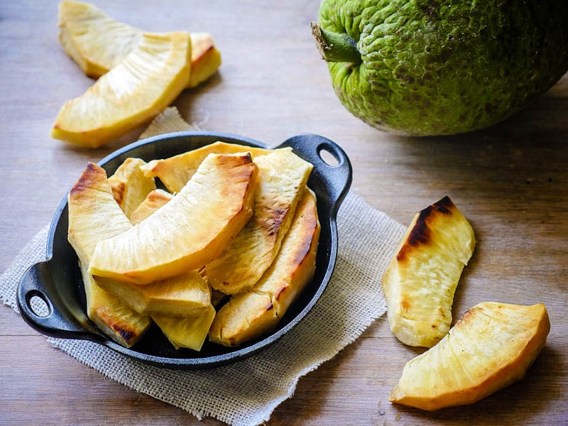 Roasted & Fried Breadfruit - The Sophisticated Caveman