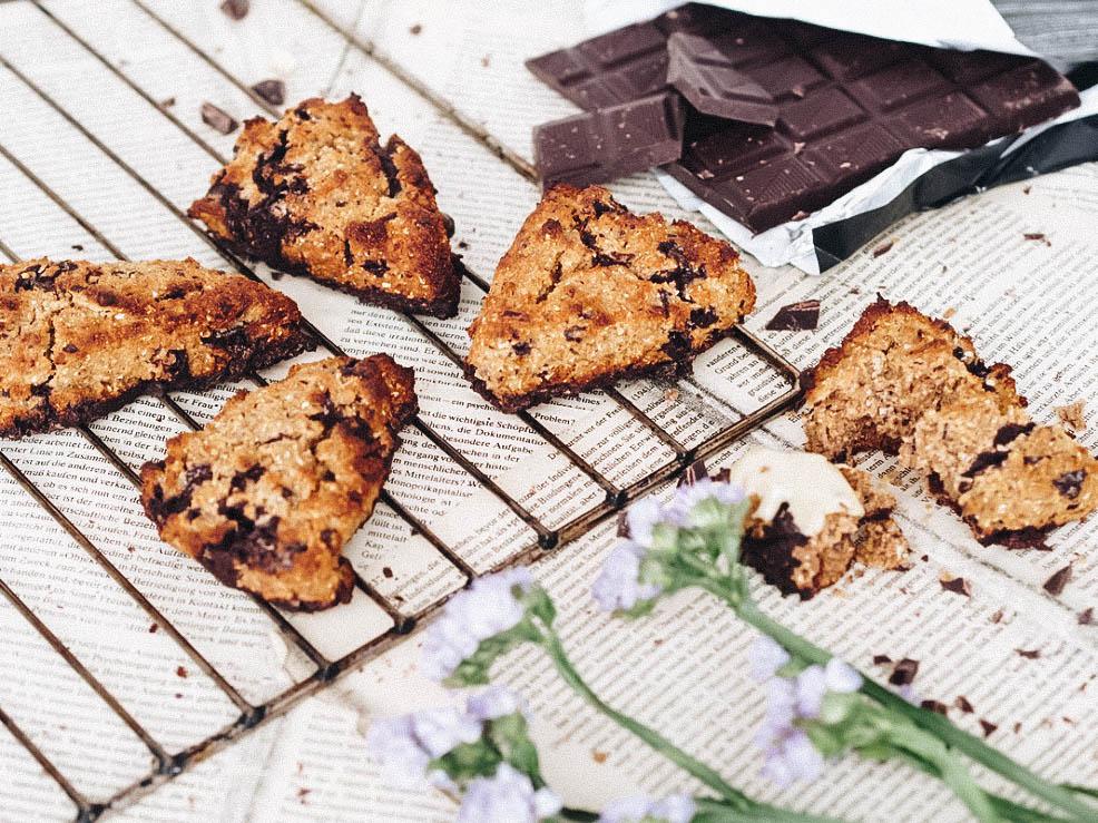 Schokolade Orangen Scones Rezept vegan Food Lifestyle Blog Sophisticated Sisters Vienna Wien