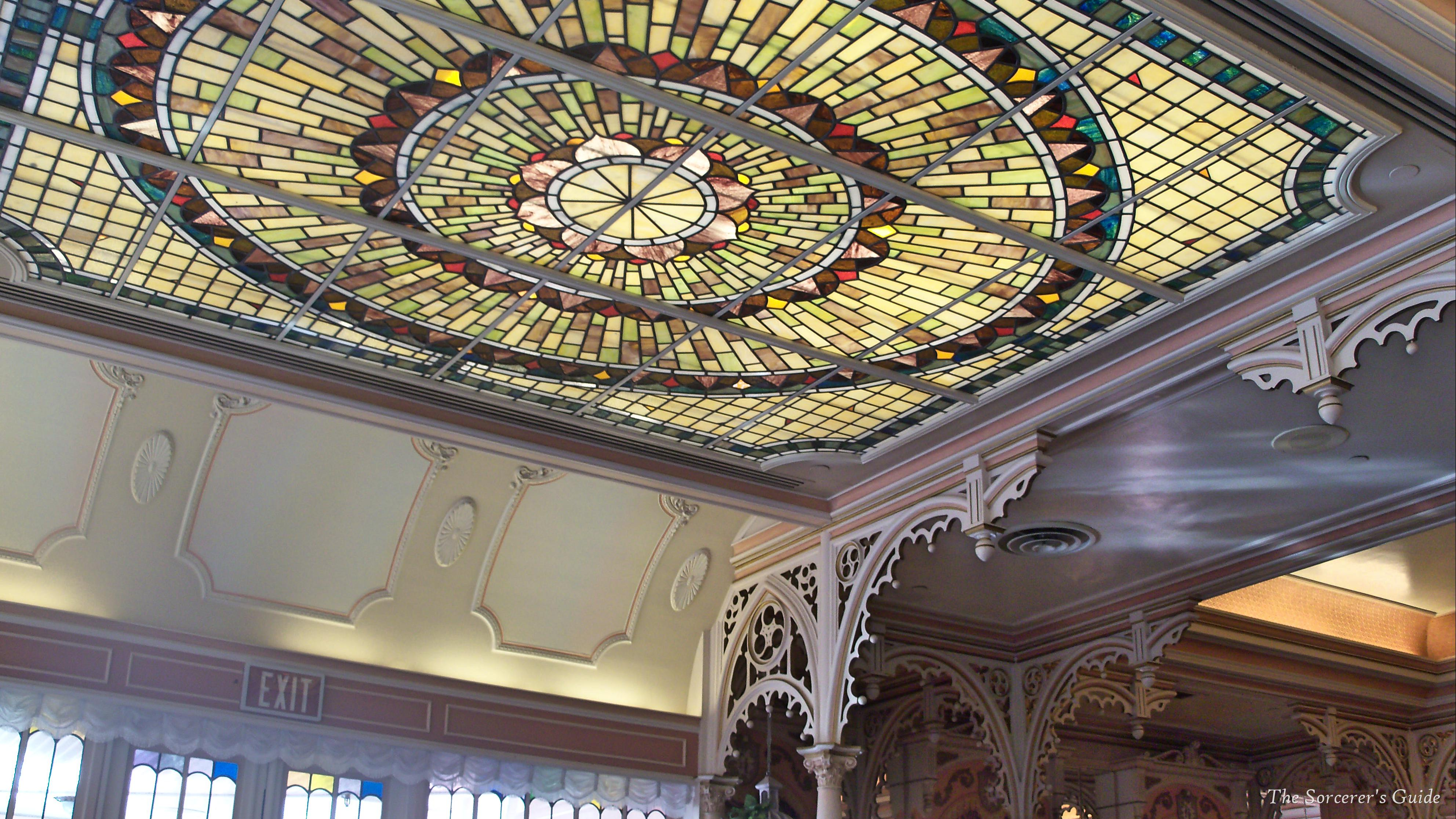 ceiling of Plaza Inn