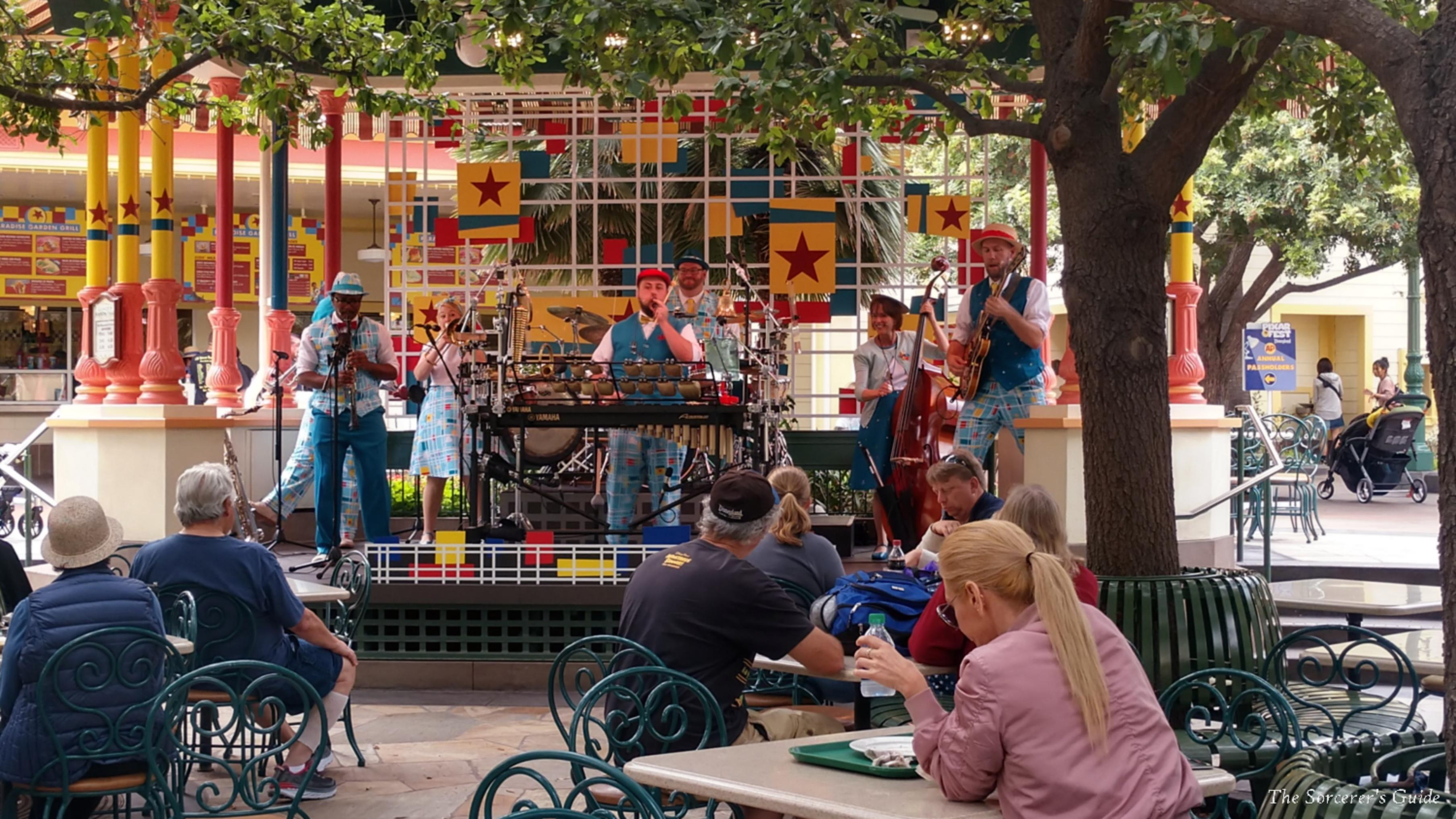 Band playing near Paradise Garden Grill and Boardwalk Pizza and Pasta