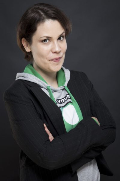 portrait image of dr. melanie fritsch who studies ludomusicology