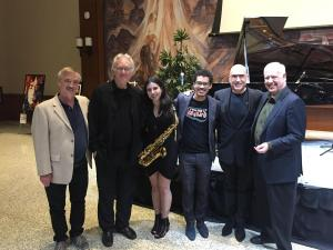 Mike Garson Quartet celebrates a successful evening!