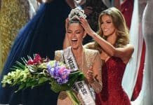 Image result for Miss South Africa 2017 Demi-Leigh Nel-Peters (L) reacts as she is crowned new Miss Universe 2017 by Miss Universe 2016 Iris Mittenaere November 26, 2017 in Las Vegas, Nevada Beauties from across the globe converged in Las Vegas Sunday, where Miss South Africa was crowned Miss Universe. Demi-Leigh Nel-Peters, 22, edged out her rivals from Colombia and Jamaica to take the crown. Nel-Peters, a graduate in business management, said her disabled half-sister has been among her great inspirations. / AFP PHOTO / Patrick Gray
