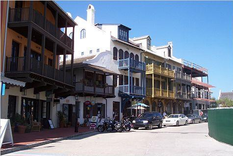 Buildings in Rosemary Beach, Florida.