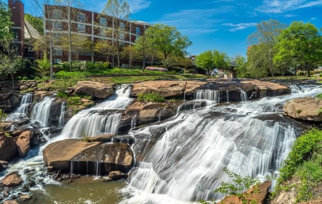 Falls Park in Greenville, South Carolina.