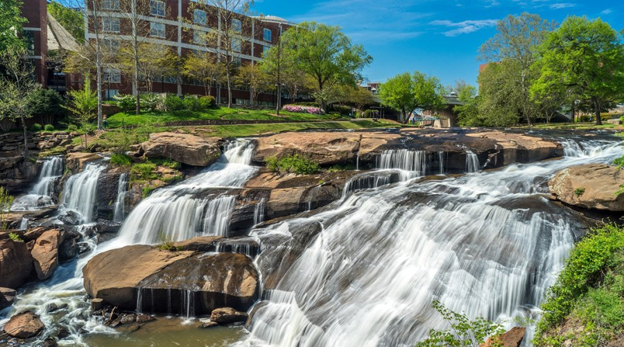 Falls Park in Greenville, South Carolina.