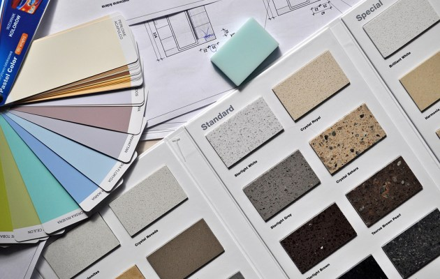 Color samples used in design.
