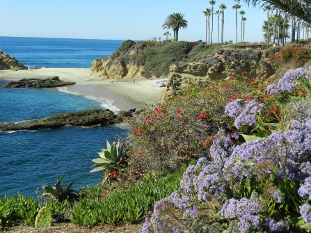A shot of the ocean near Laguna Beach, California.