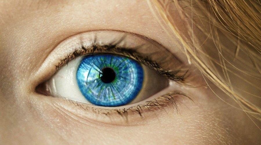 A blue eyeball.
