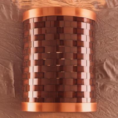 Weave Metal Wall Sconce Southwestern Lighting Store