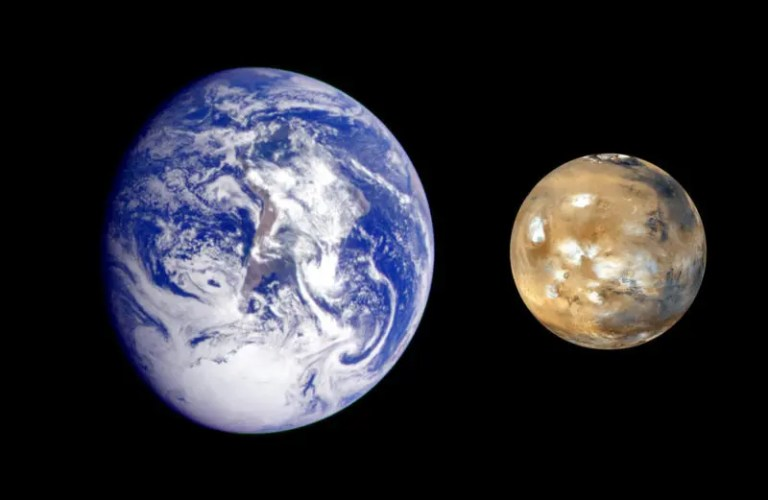 Similarities between Mars and Earth