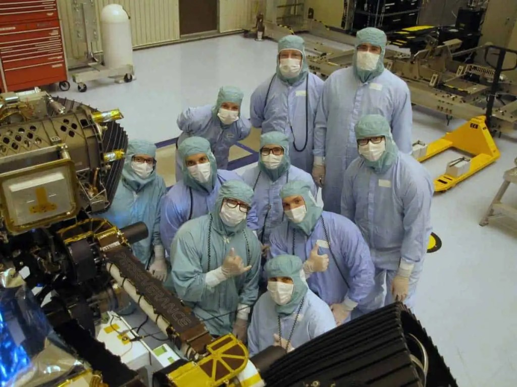 Mars rover Perseverance crew