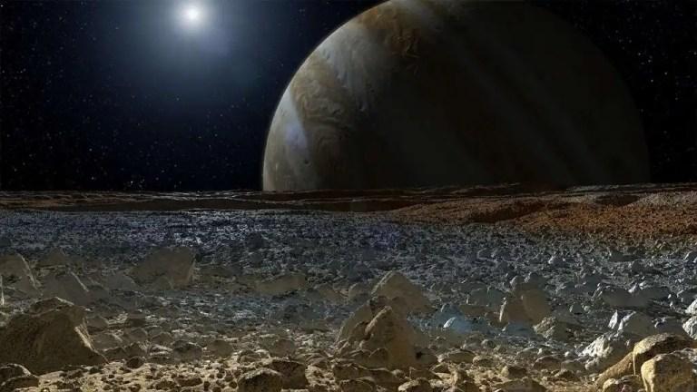 Europa moon's surface