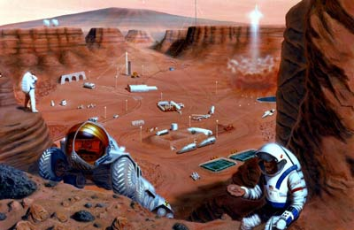 Mars base illustration