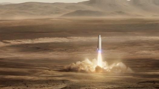 BFR Mars landing