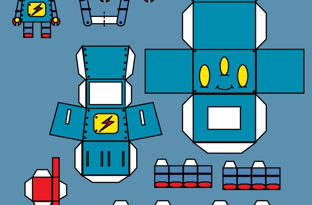 Robot Papertoys Named Wilson
