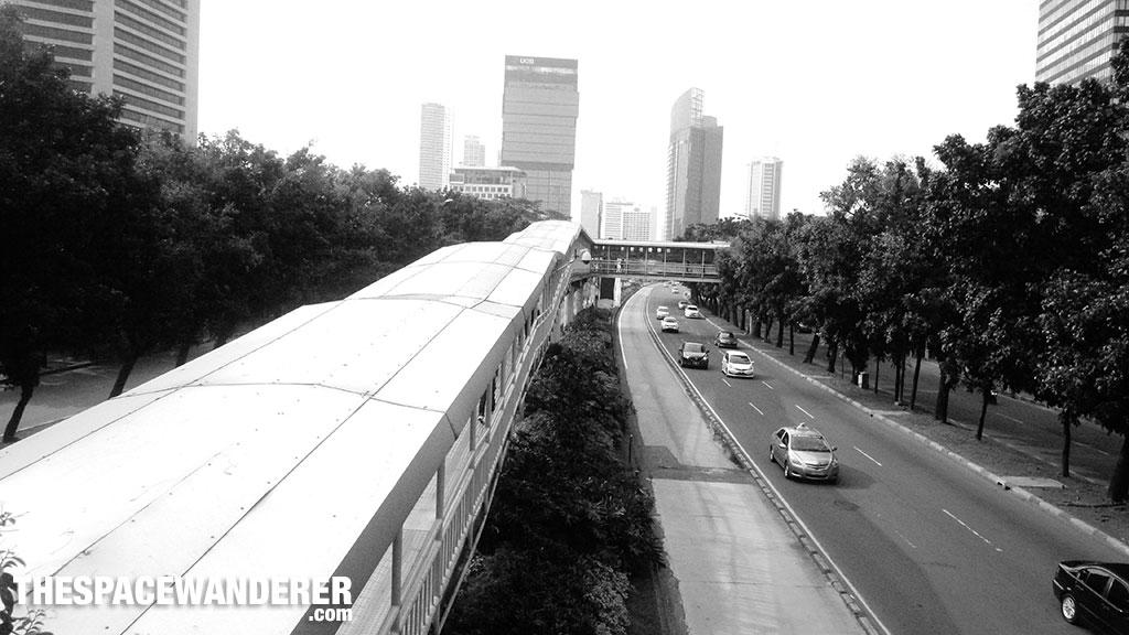 Jembatan busway dukuh atas. 2 Agustus 2014