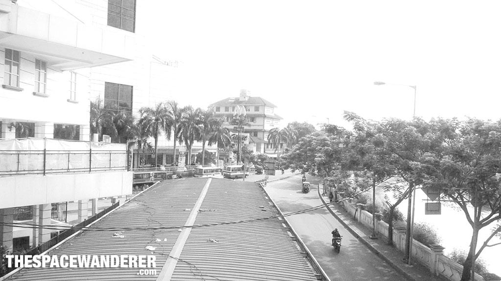 Jalanan yang tumben lenggang di Manggarai. 2 Agustus 2014