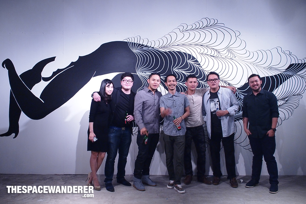 The guys behind the exhibition.