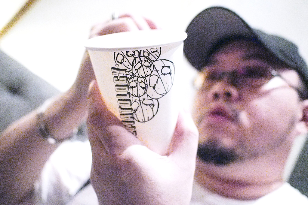 David The Killer and his cup at Crematology