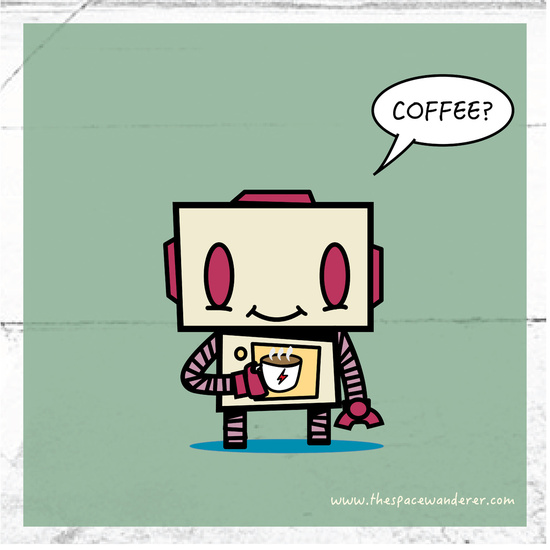 Cofee Activated Robot