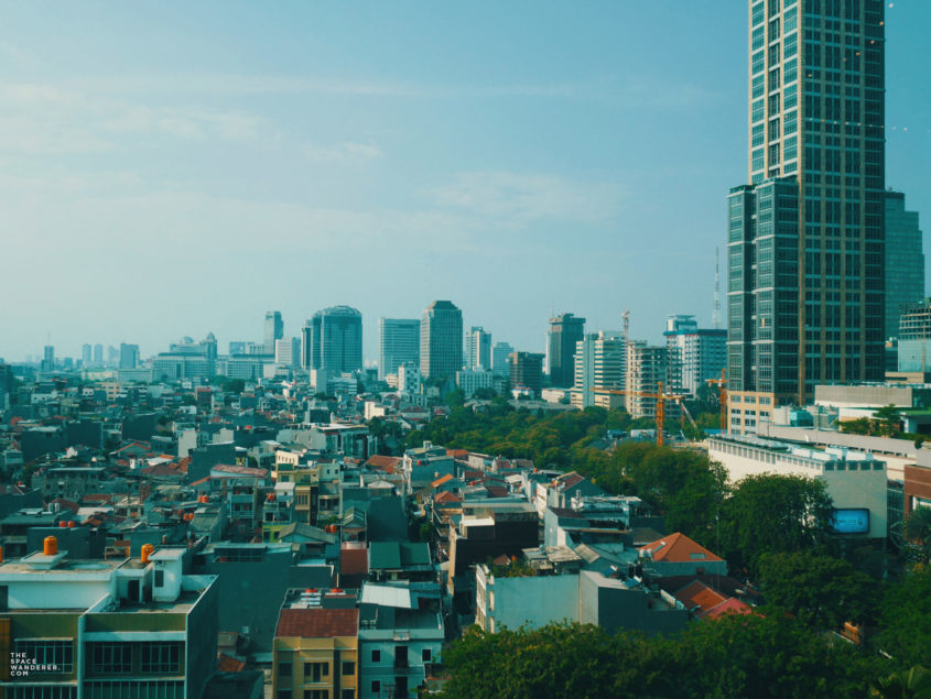 Jakarta City skyline as seen from Grand Indonesia's CGV