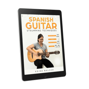 Spanish Guitar Strumming Techniques PDF with access to the video lessons