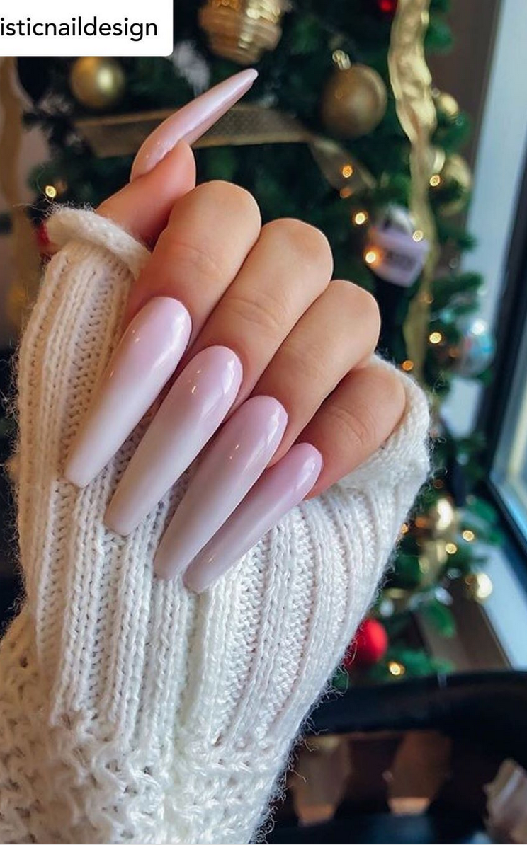 Bold and Pink Coffin Nails