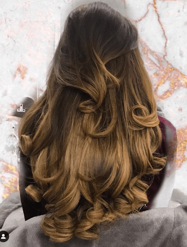 Brunette Long Hair with Curly Layers
