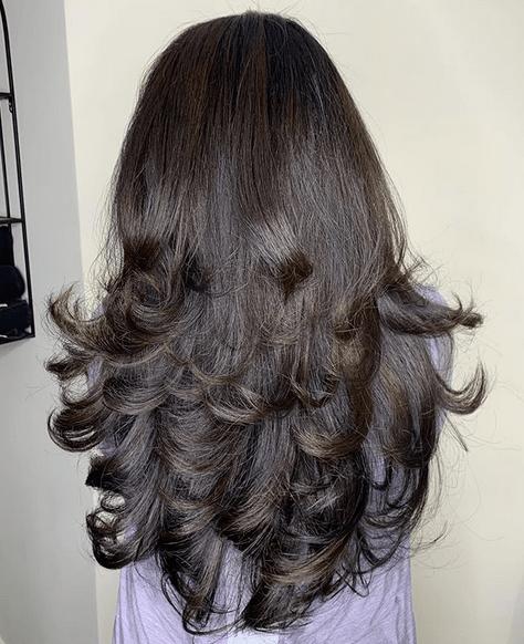 Long Layers on Hair