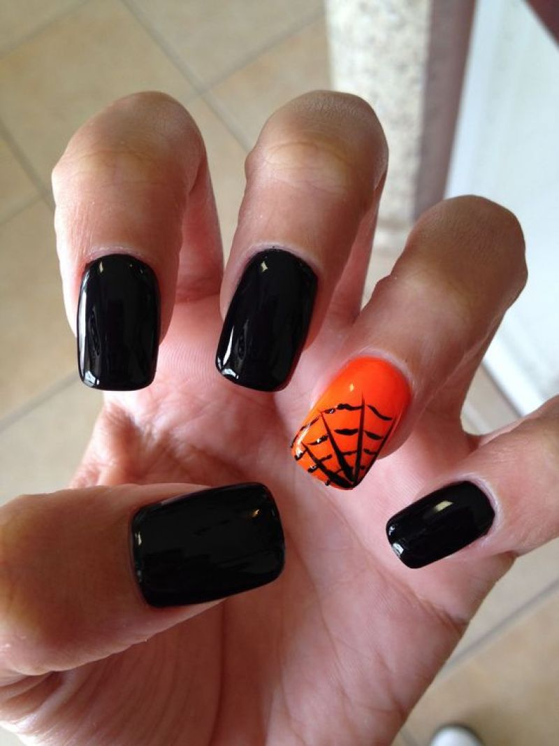 Halloween Nail Manicure