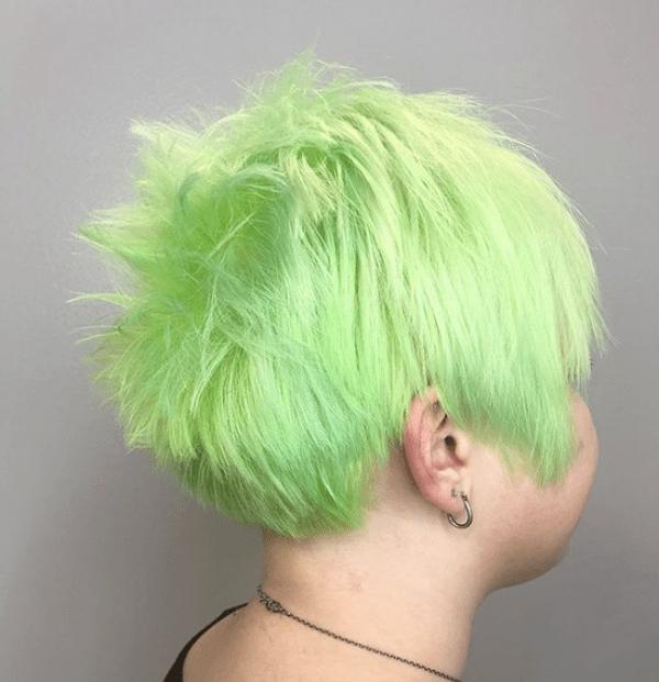 Whitish Green Hair