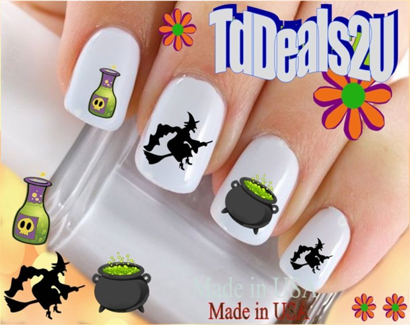 Witches Brew Nail Decals