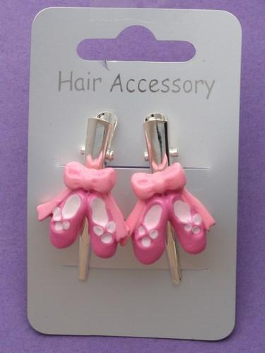 Girls ballet shoes hair clips-451