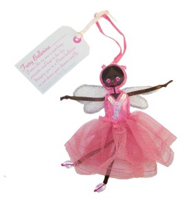 Fair Trade Fairies- Fairy dark pink ballerina