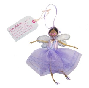 Fair Trade Fairies- Fairy purple ballerina