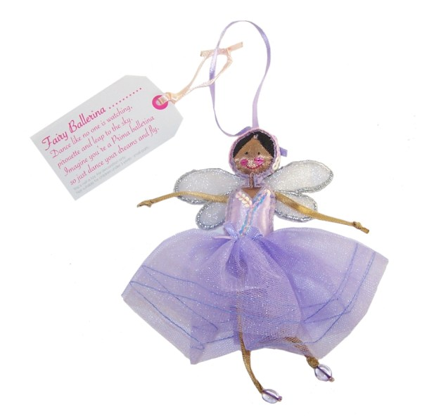 Fair Trade Fairies- Fairy purple ballerina-0