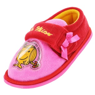 Girls Little Miss Sunshine red and pink slippers-0
