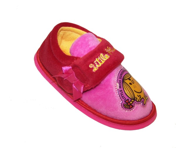 Girls Little Miss Sunshine red and pink slippers-3905