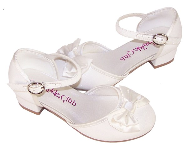 Girls sparkly flower girl and bridesmaid shoes and satin bag-4702