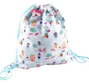 Girls unicorn and fairies drawstring kit bag