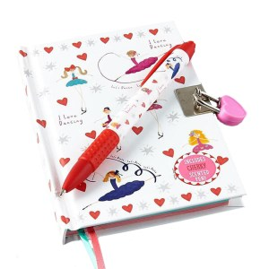 Ballerina sparkly lockable secret diary notebook