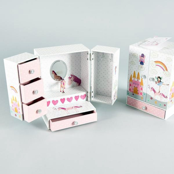 Unicorn and fairies sparkly musical jewellery wardrobe -5162