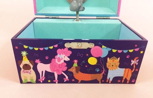 Childrens dark blue pets musical jewellery box -5133
