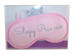Childs pink plush princess eye mask