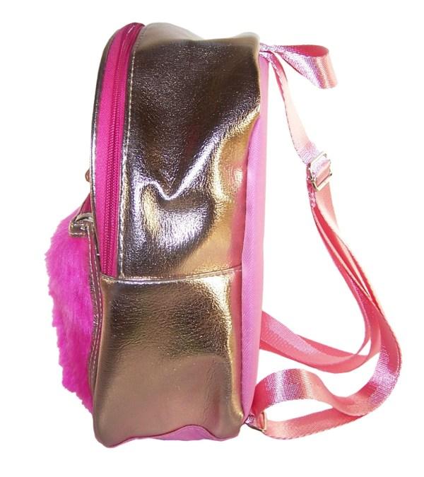 Childrens gold and pink hologram backpack-5232