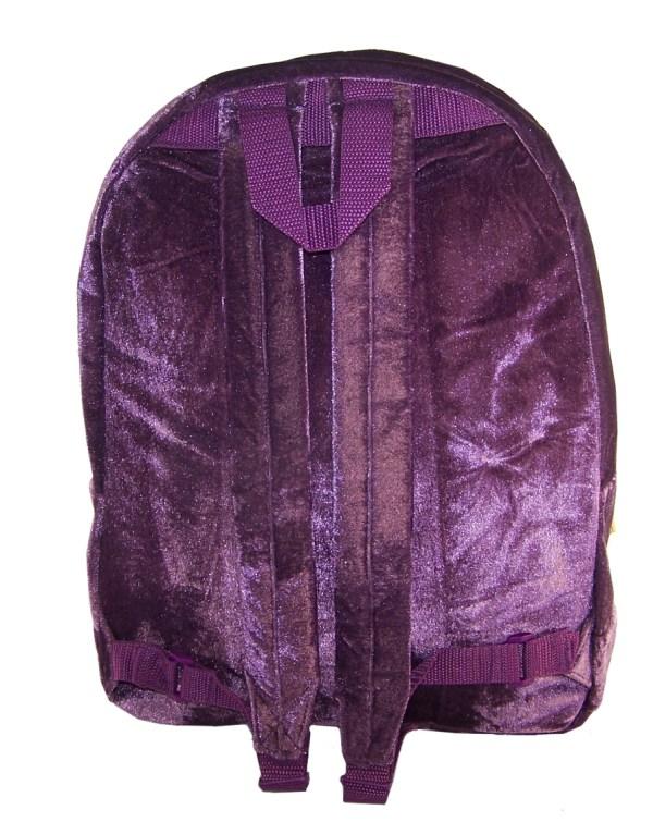 Girls Harry Potter Hogwarts deep purple velvet large backpack-5432