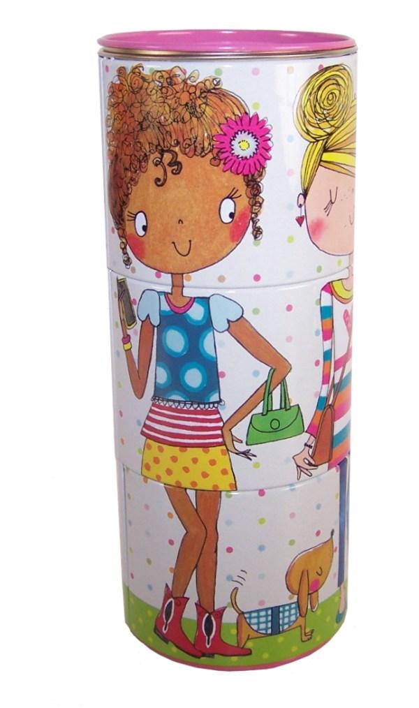 Girls fun colourful tin money box-5371