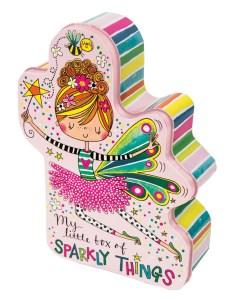 Childrens fairy shaped storage tin