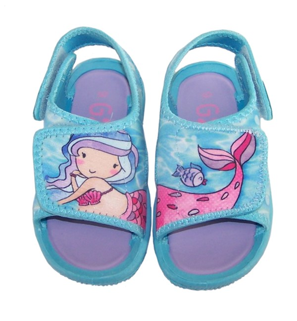 Girls blue mermaid casual sandals-5429